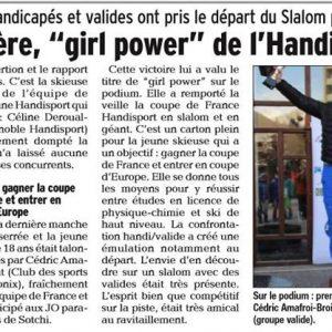 23 janvier 2017, Le Dauphiné:Slalom Handivalavec le Ski Club Marseille Saint Antoine