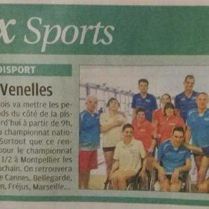 8 Avril 2017, La Provence: LeClub Handisport Aixois organise la3ème journée du Championnat National des Clubsà la piscine de Venelles
