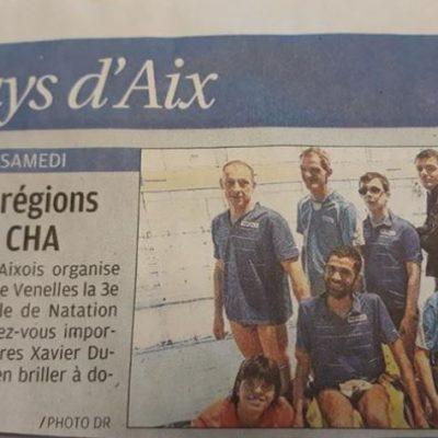 3 Avril 2018, La Provence:3ème journée inter régionale de natationorganisée à Venelles par le Club Handisport Aixois