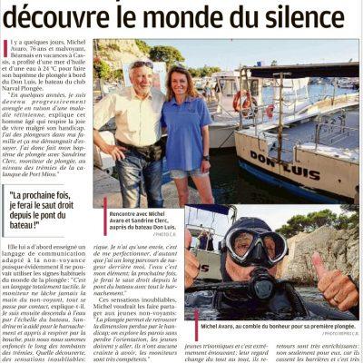 7 septembre 2017,La Provence:Découverte de la plongée sous-marineavec HandiSub