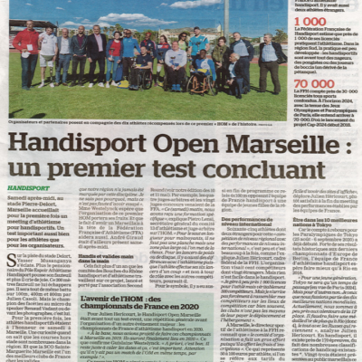 Article La marseillaise - Meeting
