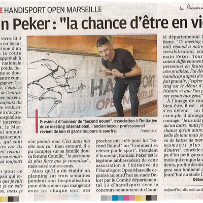 Article La provence - Annonce meeting